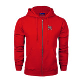 Champion Red Fleece Full Zip Hood-LU