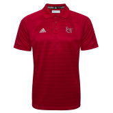 Adidas Climalite Red Jaquard Select Polo-Interlocking LU
