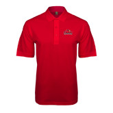 Easycare Red Pique Polo-Lamar University w/Cardinal Head