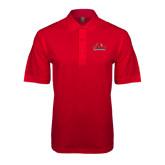 Red Pique Polo-Lamar University w/Cardinal Head