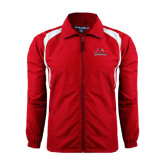 Colorblock Red/White Wind Jacket-Lamar University w/Cardinal Head