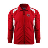 Colorblock Red/White Wind Jacket-LU