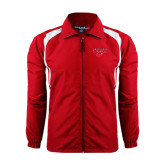 Colorblock Red/White Wind Jacket-Lamar w/Cardinal Head