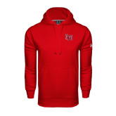Under Armour Red Performance Sweats Team Hood-LU