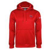 Under Armour Red Performance Sweats Team Hoodie-Interlocking LU