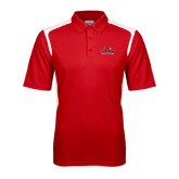 Red Textured Gameday Polo-Lamar University w/Cardinal Head