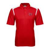 Red Textured Gameday Polo-LU