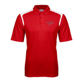 Red Textured Gameday Polo-Lamar w/Cardinal Head