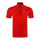 Red Horizontal Textured Polo-Lamar University w/Cardinal Head