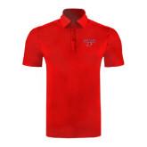 Red Horizontal Textured Polo-Lamar w/Cardinal Head