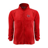 Fleece Full Zip Red Jacket-LU