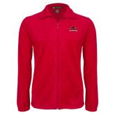 Fleece Full Zip Red Jacket-Primary Mark