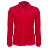 Fleece Full Zip Red Jacket-Cardinal Head