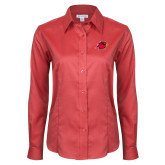 Ladies Red House Red Long Sleeve Shirt-Cardinal Head
