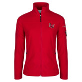 Columbia Ladies Full Zip Red Fleece Jacket-Interlocking LU