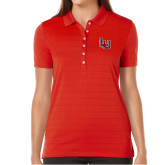 Ladies Callaway Opti Vent Red Polo-Interlocking LU