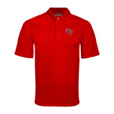 Red Mini Stripe Polo-LU