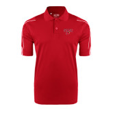 Adidas ClimaLite Red 3 Stripe Cuff Polo-Lamar w/Cardinal Head