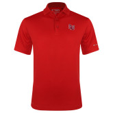 Columbia Red Omni Wick Round One Polo-Interlocking LU