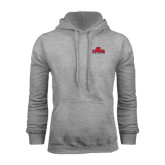 Champion Grey Fleece Hood-Lamar University w/Cardinal Head