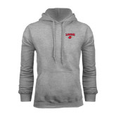 Grey Fleece Hood-Lamar w/Cardinal Head