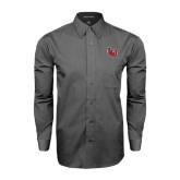Grey Tonal Pattern Long Sleeve Shirt-LU