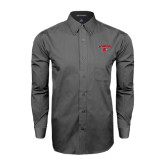 Grey Tonal Pattern Long Sleeve Shirt-Lamar w/Cardinal Head