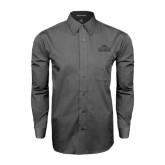 Grey Tonal Pattern Long Sleeve Shirt-Lamar University w/Cardinal Head