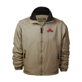 Khaki Survivor Jacket-Lamar University w/Cardinal Head