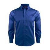 Red House French Blue Long Sleeve Shirt-Lamar University w/Cardinal Head