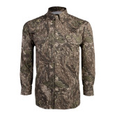 Camo Long Sleeve Performance Fishing Shirt-Lamar University w/Cardinal Head