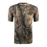 Realtree Camo T Shirt w/Pocket-Lamar University w/Cardinal Head
