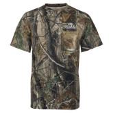 Realtree Camo T Shirt w/Pocket-Primary Mark, Logo above pocket