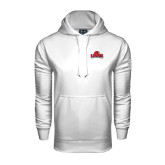 Under Armour White Performance Sweats Team Hood-Lamar University w/Cardinal Head
