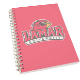 Clear 7 x 10 Spiral Journal Notebook-Lamar University w/Cardinal Head
