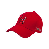 Red Heavyweight Twill Pro Style Hat-LU w/Cardinals Puff