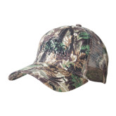 Camo Pro Style Mesh Back Structured Hat-Lamar University w/Cardinal Head