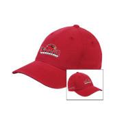 Red Flexfit Unstructured Low Profile Hat-Lamar University w/Cardinal Head