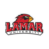 Small Magnet-Lamar University w/Cardinal Head, 6 in W