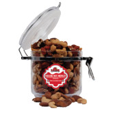 Deluxe Nut Medley Round Canister-Lamar University With Cardinal