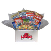 College Care Package Snackdown Deluxe-Lamar University w/Cardinal Head