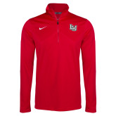 NIKE Red Dri Fit Training 1/4 Zip Top-