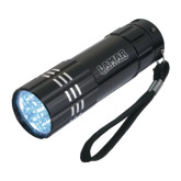 Industrial Triple LED Black Flashlight-Lamar University w/Cardinal Head Engraved