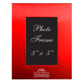 Red Brushed Aluminum 3 x 5 Photo Frame-Primary Mark Engraved