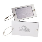 Aluminum Luggage Tag-Lamar University w/Cardinal Head Engraved