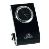Eclipse Desk Clock-Lamar University w/Cardinal Head Engraved