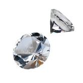 Brilliant Diamond Cut Crystal Paperweight-Lamar University w/Cardinal Head Engraved
