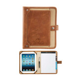 Field & Co. Cambridge Brown eTech Writing Pad-Lamar University w/Cardinal Head Engraved
