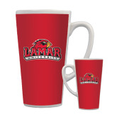Full Color Latte Mug 17oz-Lamar University w/Cardinal Head