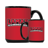 Full Color Black Mug 15oz-Lamar University